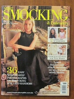Australian Smocking & Embroidery - Issue #61 2002 Exc Left-Handed Adult Blouse