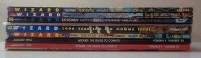 WIZARD MAGAZINE Lot of 9 Early Issues Near Mint