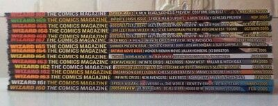 WIZARD MAGAZINE Lot of 15 Near Mint Issues