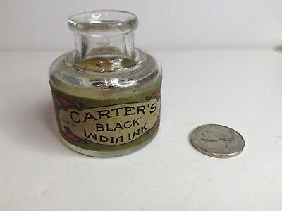 Carters Black India Ink Bottle with Full Label, Artists & Draftsmen, Architects
