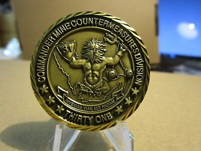 US Navy Commander Counterminemeasures Division Thirty One Challenge Coin #6418