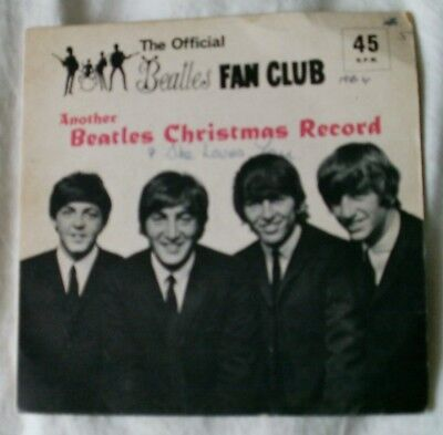 The Beatles Official Fan Club Another Beatles Christmas Flexi Disc Record 1964