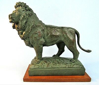 Art Institute Of Chicago Lion Statue Vintage Alva Museum Replica Sculpture 1980