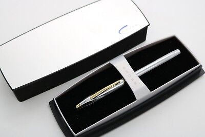 Cross MEDALIST PEN 3304T CHROME AND GOLD TONE BALL POINT PEN