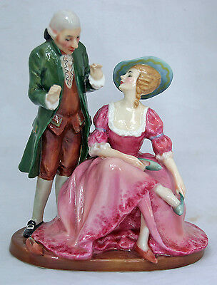 Very Rare Royal Doulton Double Figurine: The Court Shoemaker HN 1755