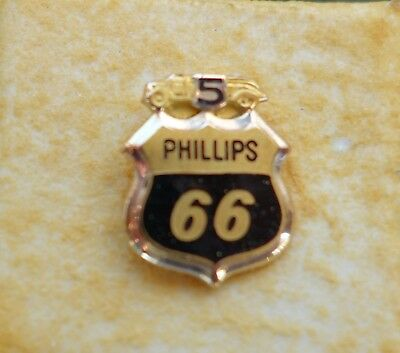 PHILLIPS 66 SERVICE PIN  5 YEAR STAMPED 10k GOLD PIN WT ONLY .05 OZ