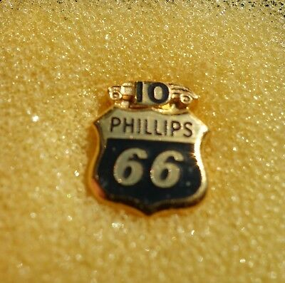 PHILLIPS 66 SERVICE PIN 10 YEAR STAMPED 10k GOLD PIN WT ONLY .05 OZ