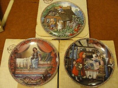 Knowles Collector Plates - Fairytale collection - Lot of 3 plates
