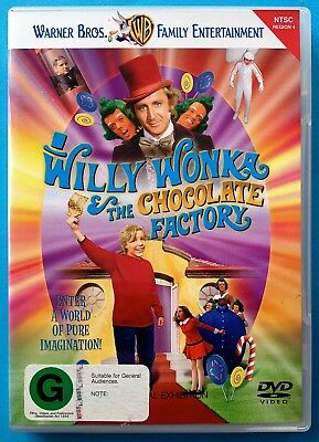 WILLY WONKA AND THE CHOCOLATE FACTORY (1971) DVD Region 4 GENE WILDER/Charlie &