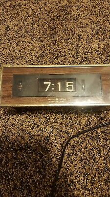 Vintage General Electric Flip Alarm Clock Lighted Dial