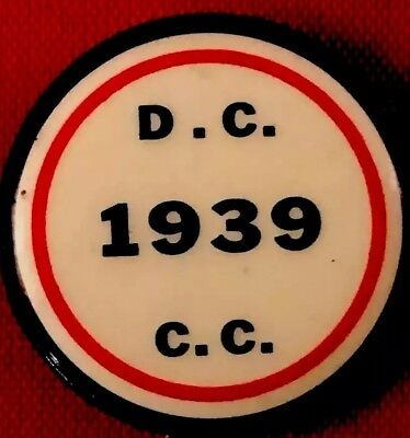 Conservation Corp Pin 1939 DC Button FD Roosevelt PinBack Campaign PinBack Badge