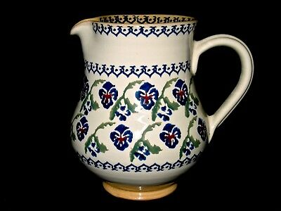 Nicholas Mosse Pottery Pitcher Rare Pansy Pattern Discontinued Made In Ireland