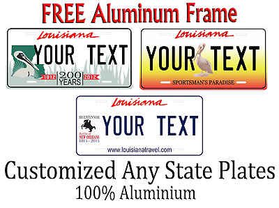Louisiana State License Plate Personalized Custom Any Name Or Text
