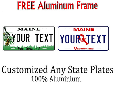 Maine State License Plate Personalized Custom Any Name Or Text