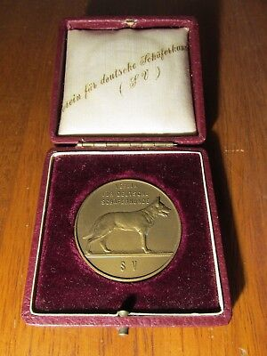 Beautiful Boxed Medal for German Shepherd Service Dog Circa WWII Red Cross Dog?