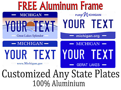 Michigan State License Plate Personalized Custom Any Name Or Text