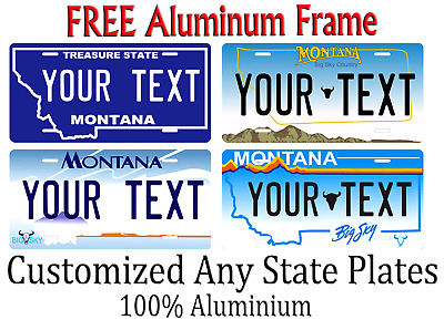 Montana State License Plate Personalized Custom Any Name Or Text
