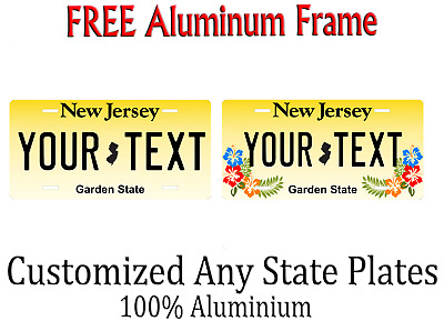 New Jersey State License Plate Personalized Custom Any Name Or Text