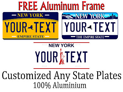 New York State License Plate Personalized Custom Any Name Or Text