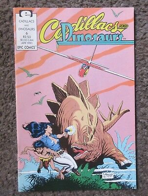 "Epic Comics ""cadillacs And Dinosaurs"" #6 April 1991  Vf+ 8.5 Out Of Print"