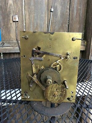 Antique Weight Driven 8 day Tall Case Clock  Movement, Parts Only