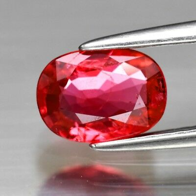CERTIFICATE Inc.*0.91ct 7.3x5.2mm Oval Natural Pink Red Spinel