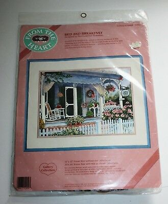 From The Heart Bed and Breakfast Crewel 16 Inch X 12 Inch #51050
