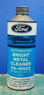 Vintage FORD Metal Cleaner Can. 1 Pint. EMPTY