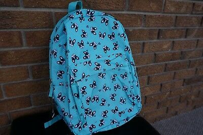 BACKPACK City Streets Mint Green All Over Boston Terrier Head Puppy Dog Faces NW