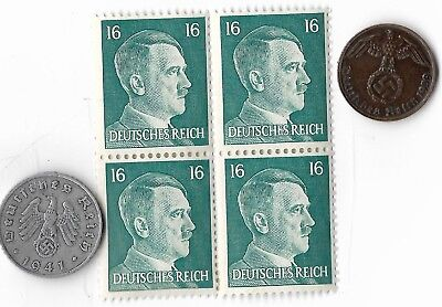 Rare Old Germany WW2 Coin Stamp Great War Deutsches Reich Collectible Collection