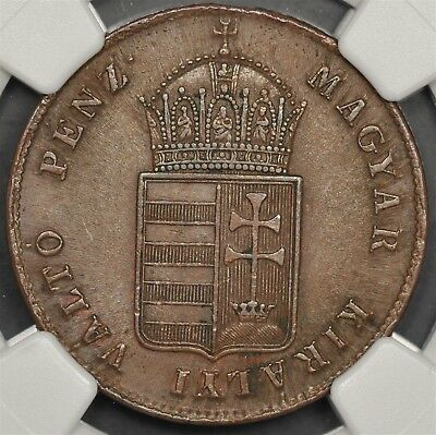 1848 Ngc Ms63Bn Hungary Krajczar War Of Independence