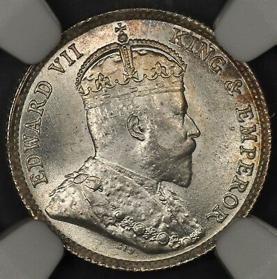 1903 Ngc Ms66 Hong Kong 5 Cents