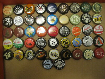 Beer Bottle Caps - 50 Different USA Lot A w Catfish Noodling, Mankato Obsolete &