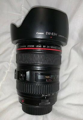 Canon 24–105mm F4 L IS USM Camera Lens (IS Not Working) See Listing