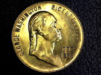 1732-1932 George Washington Bicentennial Commemorative Coin Token Medal! Rare!