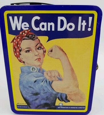 """Rosie the Riveter Story """"We Can Do It!"""" Metal School Work Lunch Box Container"""