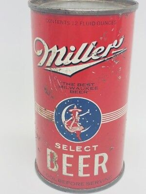 Miller Select Beer - Opening Instructions Can - OI - Milwaukee, Wisconsin WI