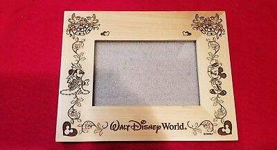 Disney Just Married Wedding Photo Frame Mickey Minnie Huey Dewey