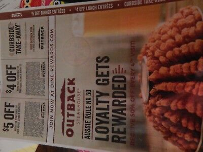 Outback Steakhouse coupons~~SAVE $$ on GREAT food!  Expires 02/10/2019