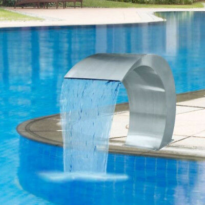 20*40CM Waterfall Fountain Water Feature Stainless Steel Cascade Swimming Pool