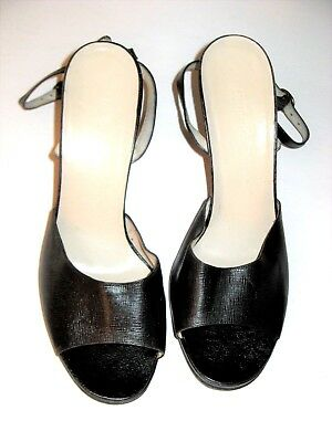 GIORGIO ARMANI SHOES ANKLE STRAP HIGH HEELS Size 8 Made in Italy Vintage 1990's
