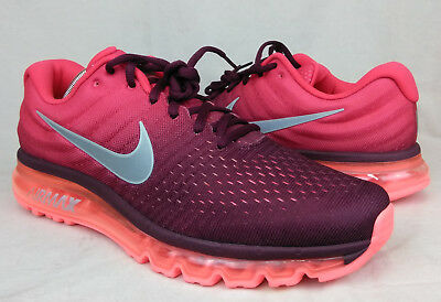 NEW Nike Air Max 2017 Sz 13 US Men's Night Maroon Red Running Shoes 849559-601