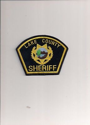 Lake Conty CA Sheriff Dept police patch, new and unused.