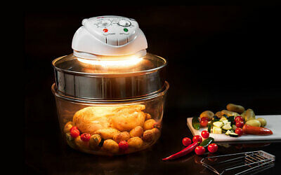 17L Grill Bake Kitchen Cook Halogen Convection Oven Cooker & Extender Ring 1400W