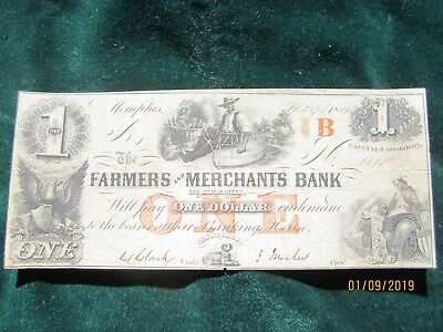 Memphis Tennessee $1 Note