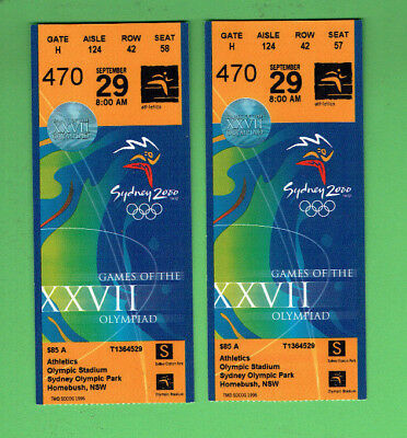 #D344.  Consecutive Pair Of 2000 Sydney Olympic Games Tickets