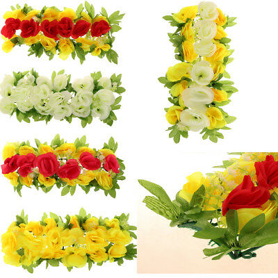 Artificial Silk Rose Flower Wall Panel Photo Backdrop Wedding Funeral Decor
