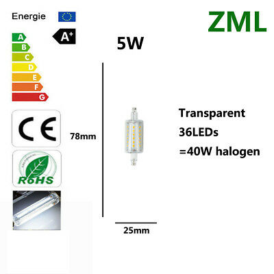 5W R7S LED Bulb Spotlight Cool White Replace halogen bulbs no Dimmable lights