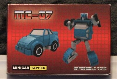 "Impossible Toys Minicars TAPPER / TAPOUT, 3.75"" Third Party Transformer, MIB/New"