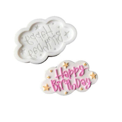 Happy Birthday Letter Fondant Cake Chocolate Candy  Baking Mould Silicone YU